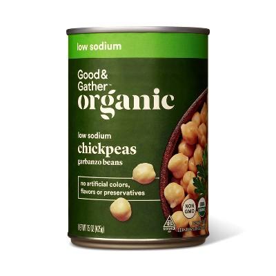 Organic Low Sodium Garbanzo Beans - 15oz - Good & Gather™