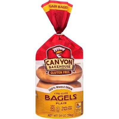 Canyon Bakehouse Gluten Free Plain Bagels - 14oz/4ct