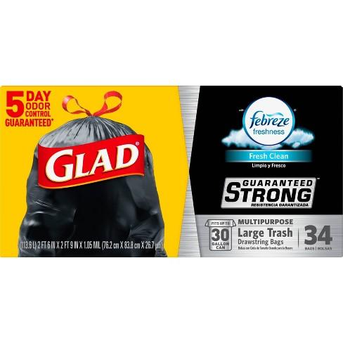 Glad Large Drawstring Trash Bags - 30 Gallon - image 1 of 4