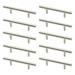 "Franklin Brass 10pk 3"" Carbon Steel Bar Pull Stainless Steel"