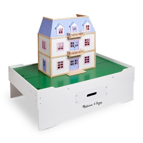Melissa Doug Deluxe Wooden Multi Activity Play Table For Trains Puzzles Games More