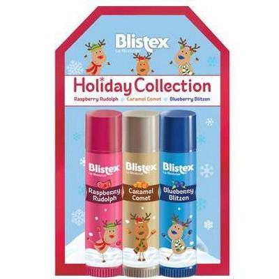 Blistex Reindeer Holiday Collection Lip Balm - 3pk