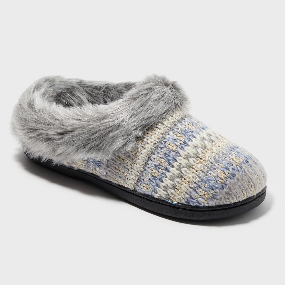 Women's Dearfoams Slide Slippers - Gray S