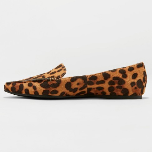 2bbc9945d9e Women s Micah Pointed Toe Closed Loafers - A New Day™ Leopard 6   Target