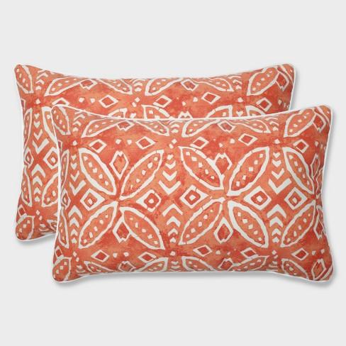 2pk Merida Pimento Rectangular Throw Pillows Orange - Pillow Perfect - image 1 of 1