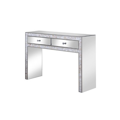 Lopez Mirrored Dressing Table Silver - HOMES: Inside + Out