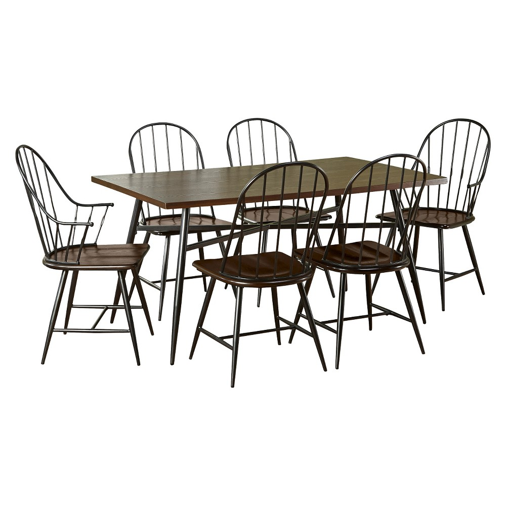 7 Piece Dining Table Set, Multi-Colored