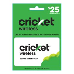 Cricket Wireless Service Payment Card (Email Delivery)