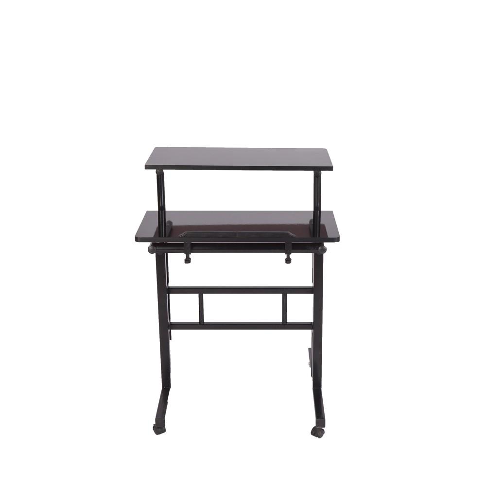 Image of 2 Tier Moble Standing Desk Black - Mind Reader