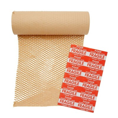 Stockroom Plus Packing Paper and 24 Fragile Stickers for Moving Breakables (12 in x 164 Ft)