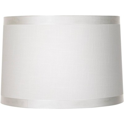 Brentwood Off White Fabric Drum Shade 15x16x11 (Spider)
