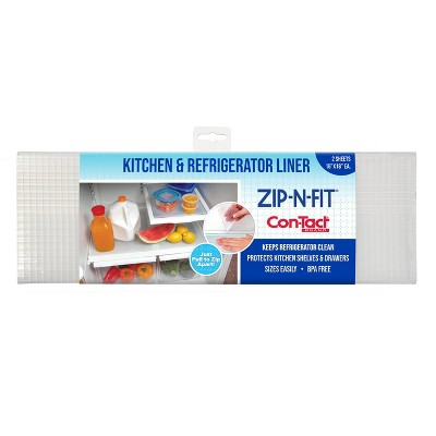 Con-Tact Zip-N-Fit Fridge Liner Clear