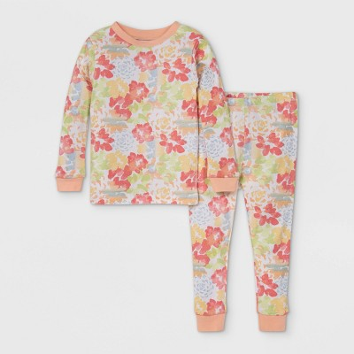 Burt's Bees Baby® Toddler Girls' Succulent Pajama Set - Pink