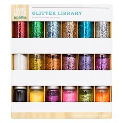 18ct Glitter Library - Hand Made Modern®