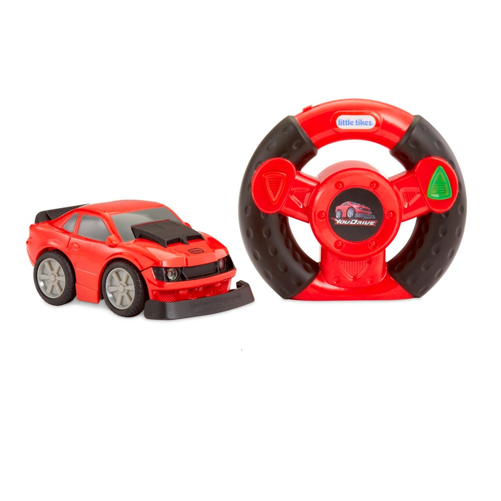 Little Tikes YouDrive Red Muscle Car with Easy Steering Remote Control