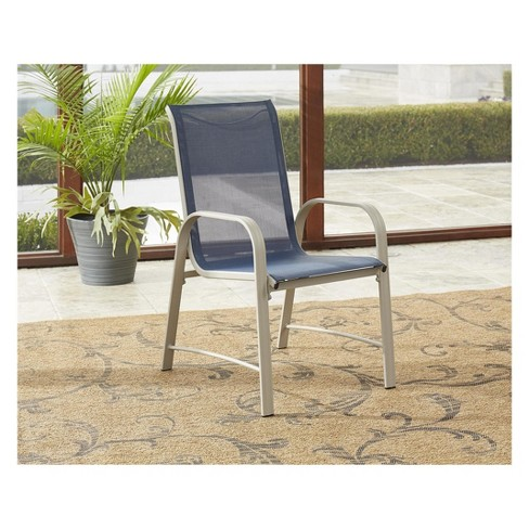 Paloma 7pc Rectangle Steel And Tempered Glass Patio Dining Set