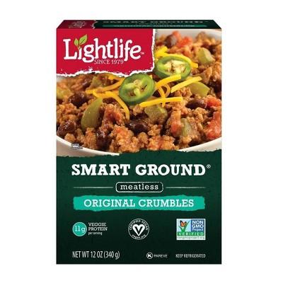 Lightlife Smart Ground Meatless Original Crumbles   12oz by Lightlife
