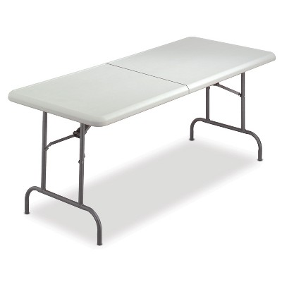Iceberg IndestrucTables Too Bifold Resin Folding Table 60w x 30d x 29h Platinum 65453