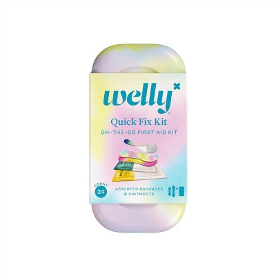 Welly Colorwash Quick Fix On the Go First Aid Kit - 24ct