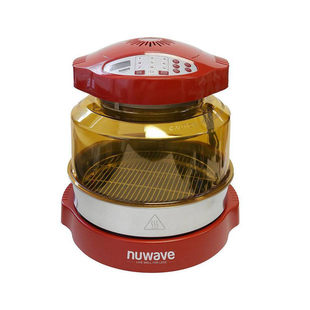 NuWave 20636 Oven Pro Plus with Extender Ring Kit Red, Clear Red