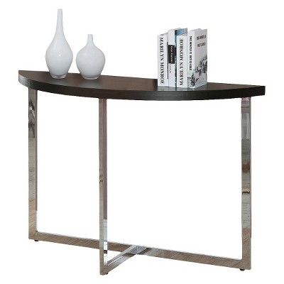 Console Table   Cappuccino/Chrome   EveryRoom