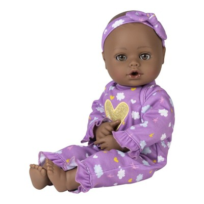 Adora Playtime Black Baby Doll Purple Dreams, 13 inch Open/Close Eyes, Baby Toy Gift for Age 1+