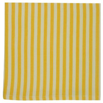 6pk Yellow Petite Stripe napkin 20 x20  - Design Imports
