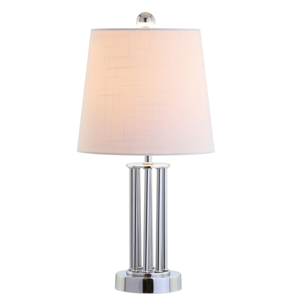 "Image of ""18"""" Lillian Metal Mini LED Table Lamp Chrome (Includes Energy Efficient Light Bulb) - JONATHAN Y"""