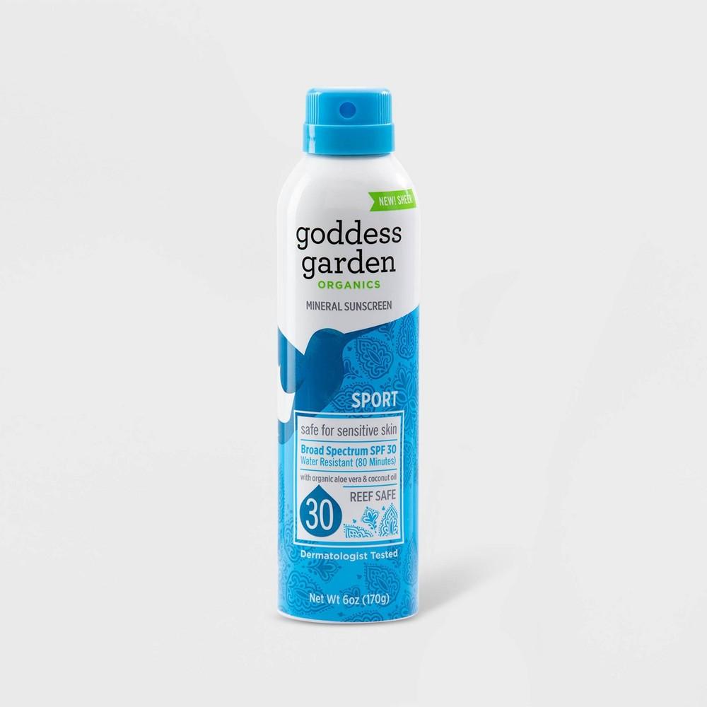 Image of Goddess Garden Sport Natural Continuous Sunscreen Spray - SPF 30 - 6oz