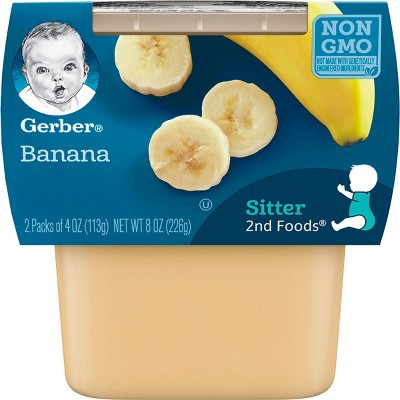 Gerber Sitter 2nd Foods Banana Baby Meals - 2ct/4oz Each