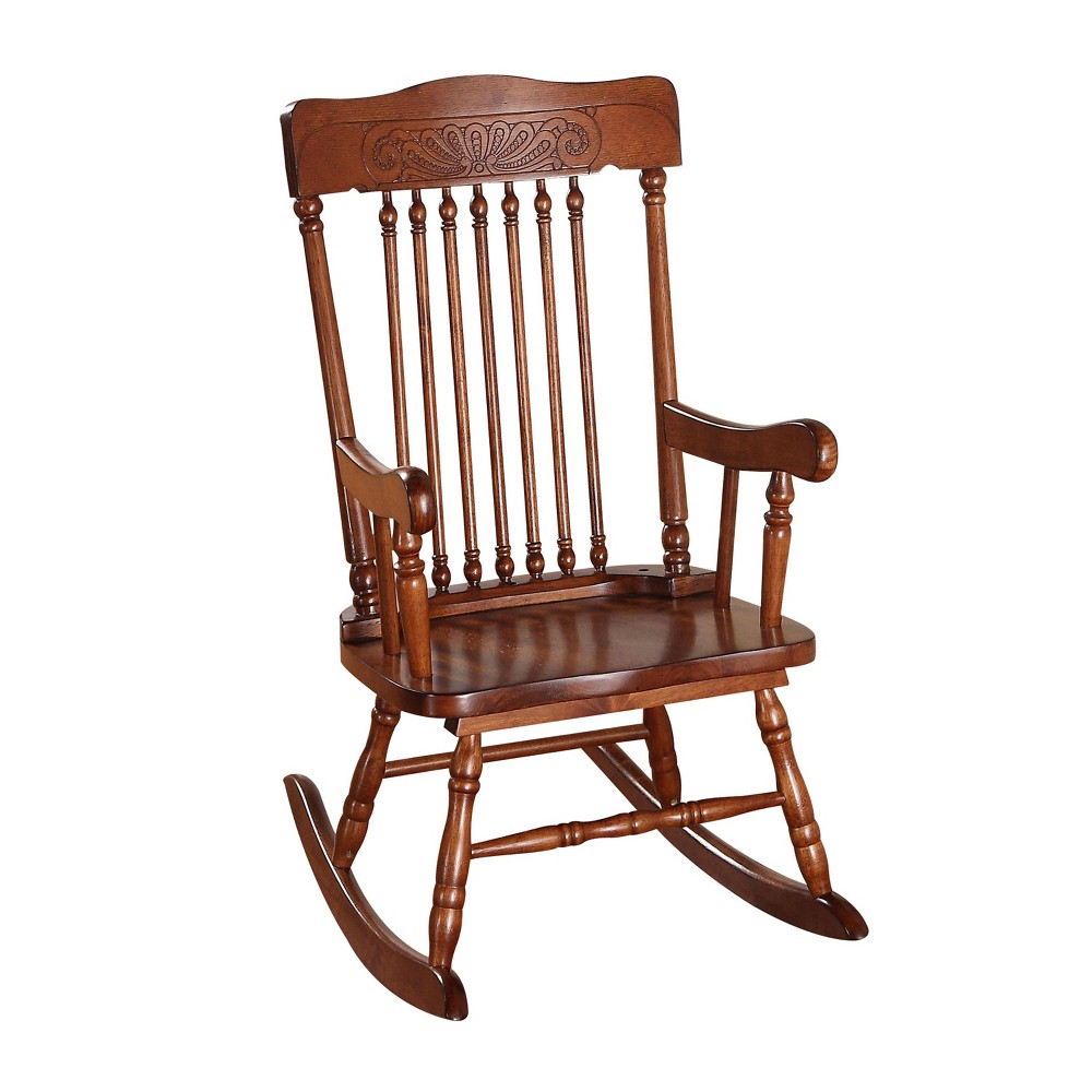 Image of Acme Furniture Kids Rocking Chair Tobacco, Brown