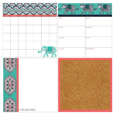 Wall Pops! ® Cork and White Board Calendar Set 4ct - Global Chic - image 1 of 3