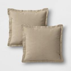 2pk Outdoor Throw Pillows DuraSeason Fabric™ - Threshold™