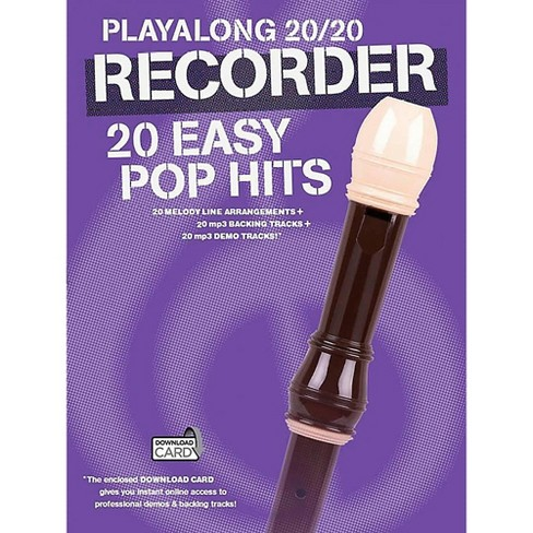 Music Sales Playalong 20/20 Recorder - 20 Easy Pop Hits (Book/Audio) - image 1 of 1