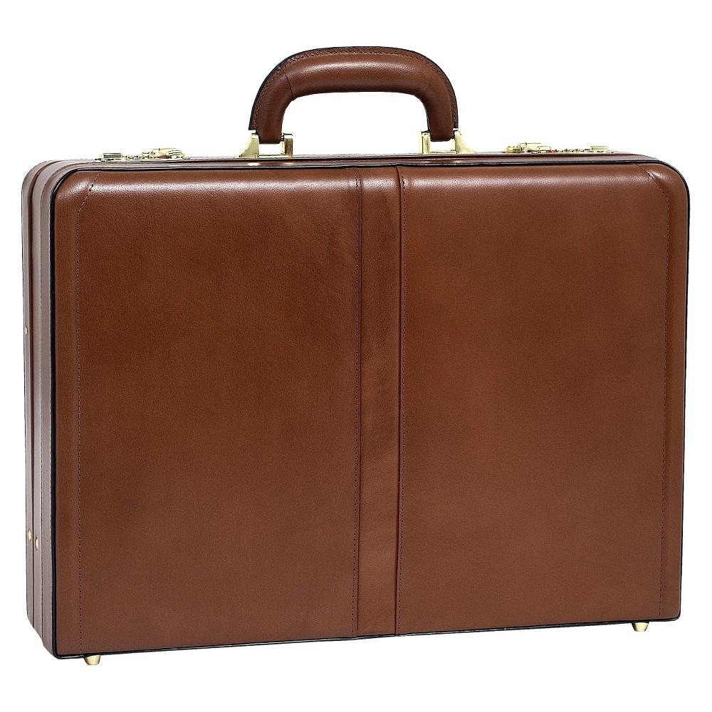 McKlein Harper Leather 4.5 Expandable Attache Briefcase (Brown)