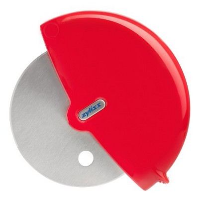 ZYLISS Pizza Cutter Wheel and Slicer, Red