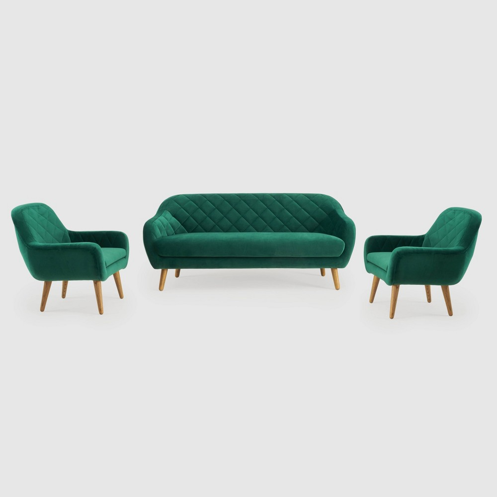 Image of 3Pc Isobel Seating Set Emerald Green - RST Brands, Green Green