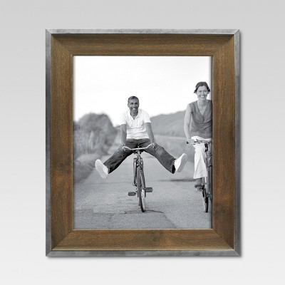 8  x 10  Espresso with Silver Border Frame - Threshold™