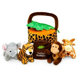 Plush Creations Jungle Friends Talking Animal Set