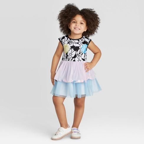 Toddler Girls' Pippa and Julie  Disney Minnie Mouse Pom Pom Dress - image 1 of 4