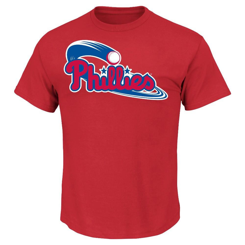 Philadelphia Phillies Men's Core Ring Spun T-Shirt Xxl, Blue