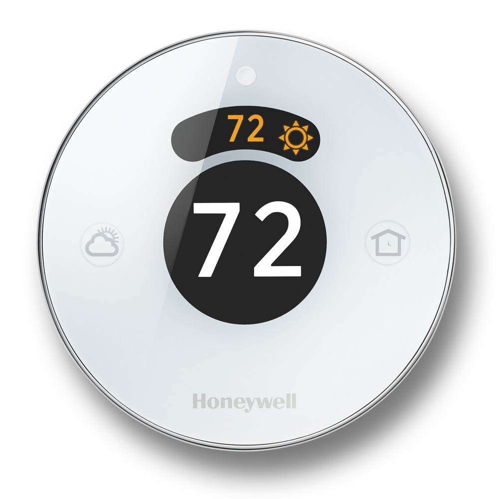 Honeywell - Lyric Round Wi-Fi Programmable Thermostat, Silver