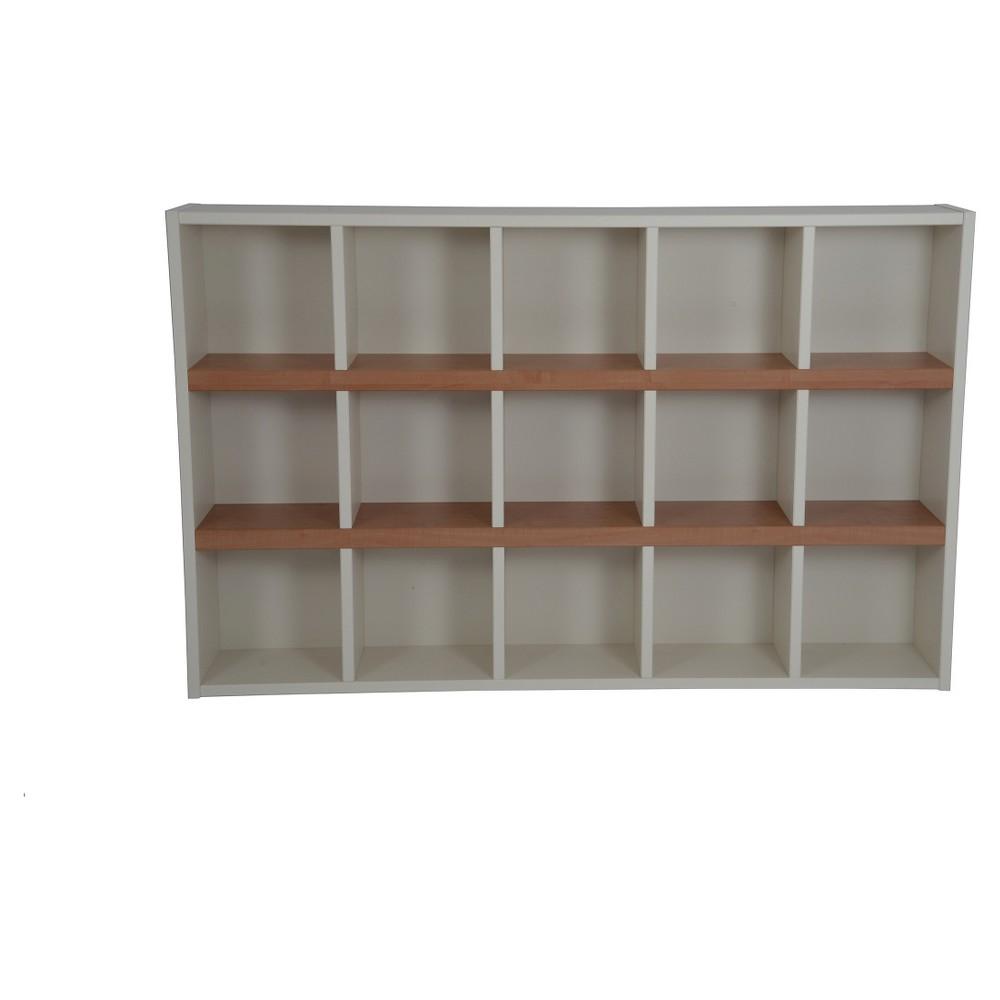 Boraam Techny Turner 47 Bookcase - Cream/Maple (Ivory/Brown)