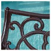 McKinley Cast Aluminum Patio Bench - Brown Copper - Christopher Knight Home - image 4 of 4