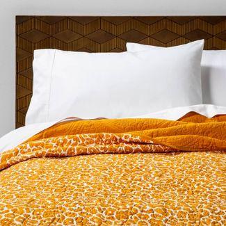 King Leopard Medallion Stitch Quilt Saffron - Opalhouse™