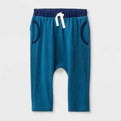 Baby Boys' Jersey Leggings - Cat & Jack™ Blue Newborn