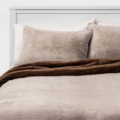 Threshold™ Faux Fur Comforter & Sham Set - image 1 of 3