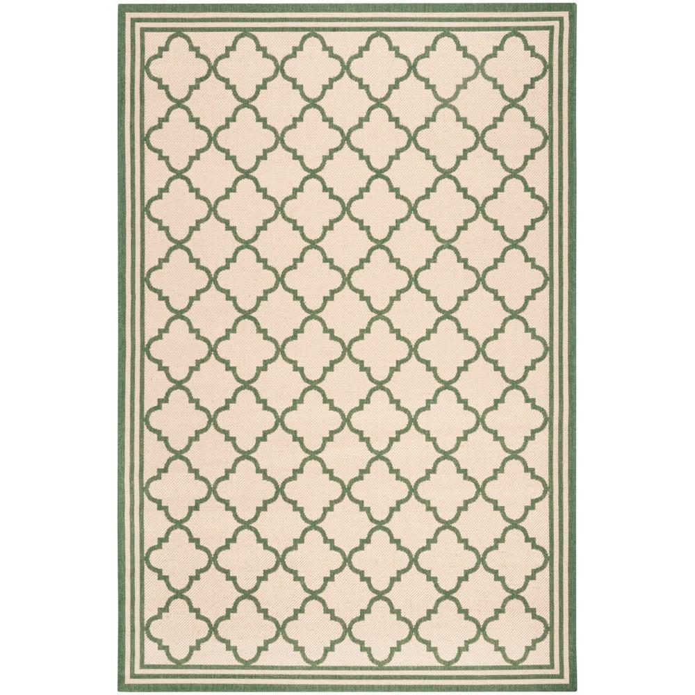 5 1 X7 6 Quatrefoil Design Loomed Area Rug Cream Green Safavieh