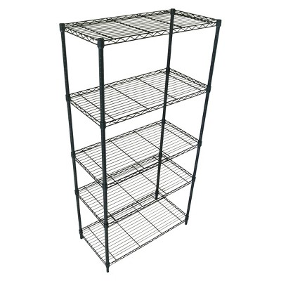 Adjustable 5-Tier Wire Shelving Unit - Black - Room Essentials™