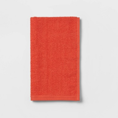 Everyday Solid Hand Towel Bright Coral - Room Essentials™